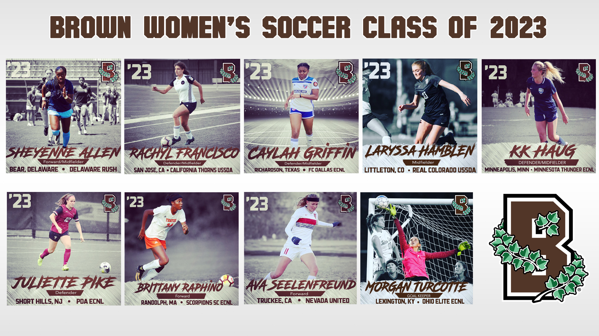 47946bc2b Women s Soccer Introduces Nine-Member Class of 2023 - Brown ...