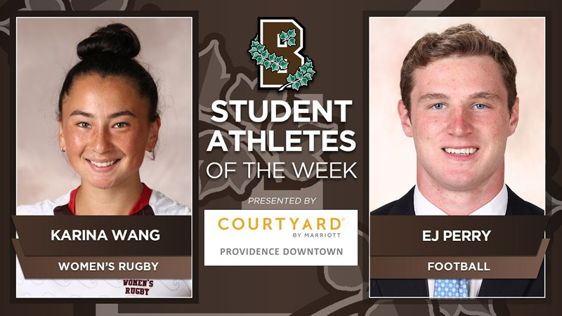 Wang, Perry Earn Brown Student-Athlete of the Week Honors